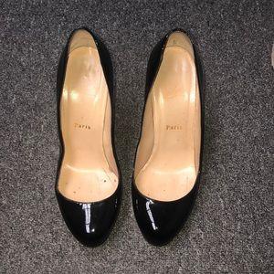 Christian louboutin patent close toe pumps